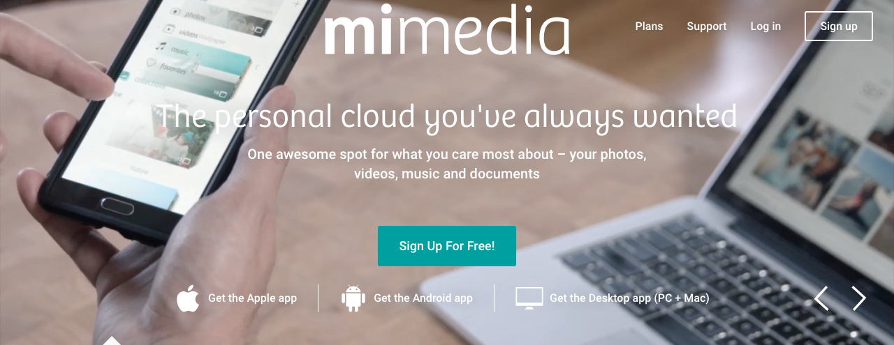 Mimedia Personal Cloud Service Copywriting